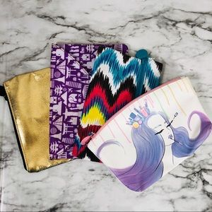 4 Ipsy Make-up/Cosmetic Bags